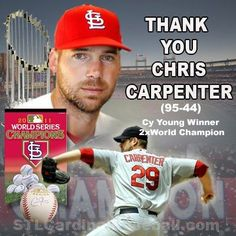 Thanks Carp for all your hard work with Louis Cardinals St Louis Baseball, St Louis Cardinals Baseball, Stl Cardinals, Cardinals Players, Champion, Philadelphia Phillies, Going Crazy, Baseball Cards, Carpenter