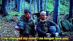 Day Seven: Moment That Made You Laugh. Now can I have food? This is the episode where everyone thinks Robin killed a villager, so they all hate him. Robin is taking them food to try to make them love him. Robin Hood Bbc, Robin Hoods, Medieval Tv Shows, Gif Library, British Things, Sherwood Forest, Sword Fight, Tv Show Quotes, Me Tv