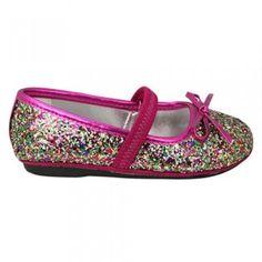 Nina Fanti T Pink Glitter Mary Jane Dress Shoes Girl Size 7-12