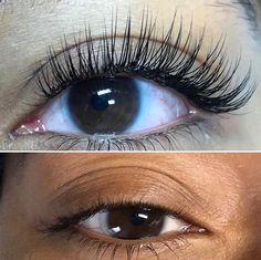Beautiful Eyelashes, Falsies, Eye Make Up, Eyelash Extensions, Salons, Nails, Makeup, How To Make, Beauty