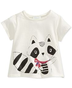 First Impressions Baby Girls' Raccoon Tee
