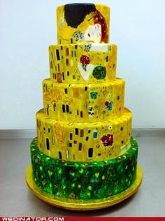 Klimt's The Kiss wedding cake.