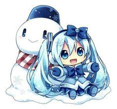 Read Hatsune Miku from the story Anime, Vocaloid, Manga. Manga Anime, Cute Anime Chibi, Fanarts Anime, Anime Characters, Anime Art, Vocaloid, Hatsune Miku Chibi, Anime Kawaii, Kawaii Chibi