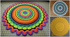 It's been long time since we have pattern for beautiful round rug. With crochet we can make many beautiful and attractive things. You can see on the pictures how beautiful can bee this rug with different colors and also in one color, so you can make choice. It's depend at your home interior and in which room you want to place this pretty rug. We have for you free pattern as usual by Frank O'Randle. Thanks to author for clearly explained pattern and we hope it will be useful for you. You can…