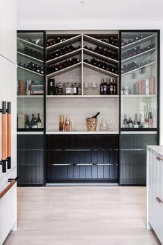 Tour bellaMumma Nikki Yazxhi's stunning renovated home / Dekozilla Home Wine Bar, Home Wine Cellars, Wine Rooms, Home Bar Designs, Wine Wall, Wine Cabinets, Wine Fridge, Wine Storage, Basement Remodeling