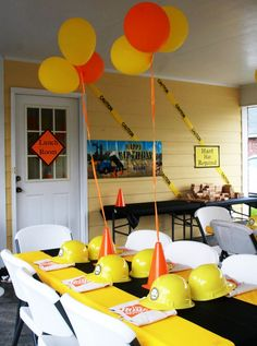Boys Birthday party idea - construction zone construction theme, party themes, boy party, construction birthday, birthday idea, construction party, 3rd birthday, parti idea, boy birthday parties