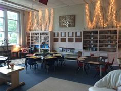 """The following photos are from the classrooms at my school. My colleagues have created such glorious spaces.  I am going to post a series of elements. Today's element is lighting.""  