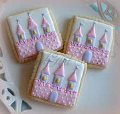 Perfect Princess Castle Cookies!!! Bebe'!!! Perfect for a child's birthday party!!!