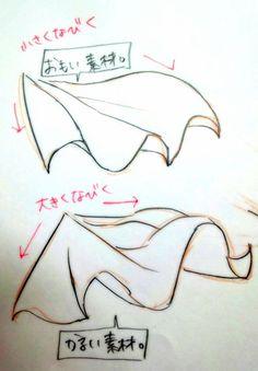 重い布(堅い素材的なもの)ゎ、なびき方が小さくて軽い布(柔らかい素材的なもの)ゎ...なびく布*補足。[21685268]の画像。見やすい!探しやすい!待受,デコメ,お宝画像も必ず見つかるプリ画像 Drawing Reference Poses, Drawing Skills, Drawing Poses, Drawing Techniques, Design Reference, Drawing Tips, Figure Sketching, Figure Drawing, Art Sketches