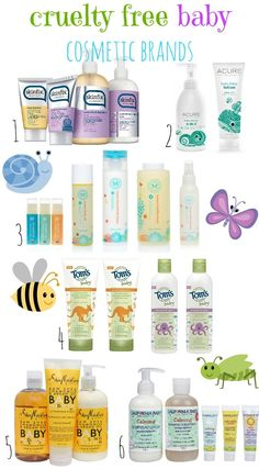 CRUELTY FREE BABY COSMETIC BRANDS!