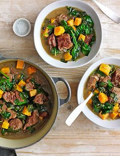 This Jamaican pepperpot stew recipe is an easy one-pot to feed the family. Ginger, chilli and allspice spice up the tender beef and sweet potato for a winter warming dish