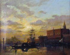 Venedig im Lichte der Abenddämmerung - Aleksei Petrovich Bogolyubov