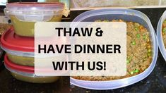 HOW TO THAW FREEZER MEALS - YouTube