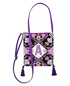 Initial Neon Tribal Crossbody Bag