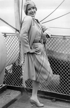 Lili Damita arrives in New York aboard the SS Berengaria - May, 1928