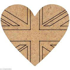 Compra nuestros productos a precios mini Forma de madera Londres - Corazón bandera GB - 3 cm - Entrega rápida, gratuita a partir de 89 € !