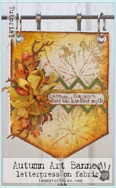 Tammy Tutterow Tutorial | Autumn Art Banner