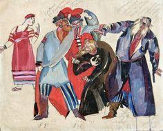 Эскиз костюмов «В корчме» для оперы «Борис Годунов» М.П. Мусоргского | Ф. Федоровский | 1927