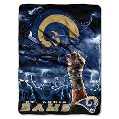 St. Louis Rams NFL Royal Plush Raschel Blanket (Sky Series) (60inx80in)