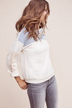 Anthropologie EU Cherie Jumper, Ivory