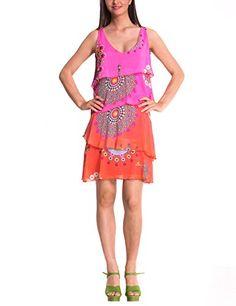 Desigual Women's Lina Woven Dress Sleeveless, Pink, Small(38) Desigual http://www.amazon.com/dp/B00OJADHQ6/ref=cm_sw_r_pi_dp_eoh4vb0CJD5QX