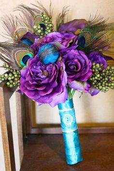 Peacock Bouquet love it!
