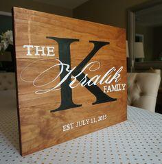 DIY Family Established Sign #wedding
