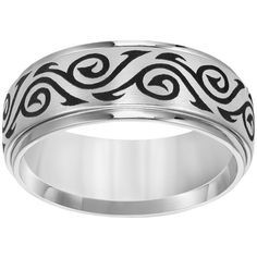 Cherish Always Cobalt Tribal Band (180 AUD) ❤ liked on Polyvore featuring jewelry, rings, grey, tribal jewellery, cobalt jewelry, band jewelry, tribal jewelry and band rings