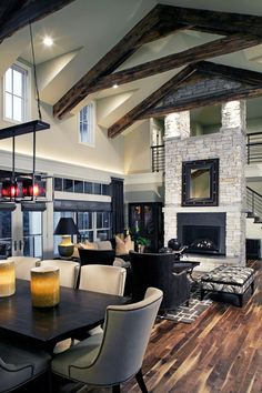 1Contemporary Farmhouse Great Room Fireplace 5