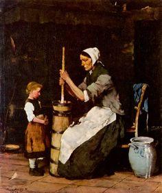Munkácsy Mihály: Köpülő asszony. 1873