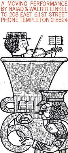 Mid Century illustrator Naiad Einsel