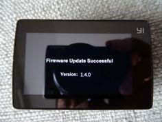 Test Xiaomi Yi Cam 4K - mise à jour du firmware