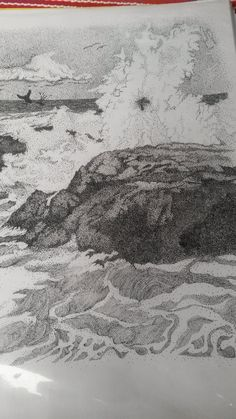 Pointillism by Thea Loots Pointillism, Ocean, Snow, Inspired, Drawings, Nature, Outdoor, Inspiration, Outdoors