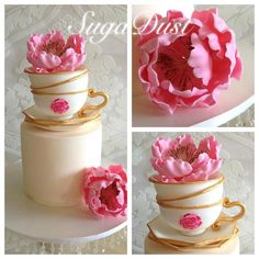 Kitchen Tea Party - Cake by Mary @ SugaDust