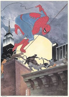Spiderman by Charles Vess