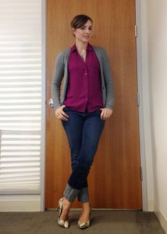 Nine-Thirty to Five: Ultimate Combo, cardigan, jeans and snake print