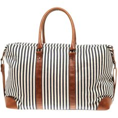 Asos Ticking Stripe Holdall (1.280 UYU) ❤ liked on Polyvore featuring bags, bolsas, bolsos, purses, asos, asos bags, handle bag, stripe bag and zipper bag
