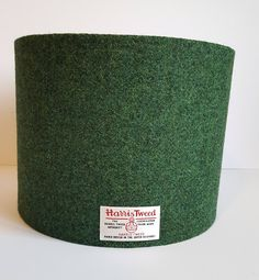 Harris Tweed lampshade in dark moss green - oval shaped Pottery Barn Lamp Shades, Old Lamp Shades, Rustic Lamp Shades, Painting Lamp Shades, Painting Lamps, Lampshade Redo, Lampshades, Farmhouse Lamps, Farmhouse Table