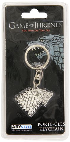 """Game of Thrones - """"Stark"""" Keychain  Manufacturer: Abysse Corp. Barcode: 3700789200598 Enarxis Code: 012262 #toys #keychain #Game_of_Thrones #Stark #tvseries"""