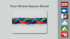 The Four Strand Square Sinnet or Braid creates a pleasing solid bar. It can be used to braid hair but is more awkward to braid than the normal three strand braid.