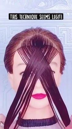 Hair Cutting Videos, Hair Cutting Techniques, Hair Videos, Cutting Hair, Medium Hair Styles, Curly Hair Styles, Natural Hair Styles, Hair Day, New Hair