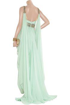 Marchesa Crystal-embellished silk-chiffon gown NET-A-PORTER.COM greek dress. Beautiful!!