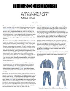 The Zoe Report ft. RE/DONE Denim