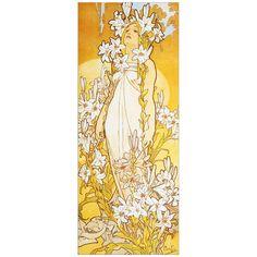 Mucha - Lily 30x75 cm #artprints #interior #design #art #prints Scopri Descrizione e Prezzo http://www.artopweb.com/autori/alphonse-mucha/EC22133