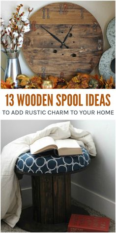 Add some rustic charm to your home with these 13 gorgeous wooden spool ideas! Wire cable spools never looked so good! via @leviandrachel