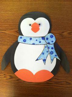 A cute winter penguin decoration.. I LOVE MY PENGUINS