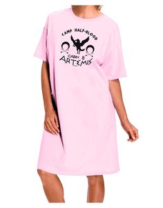 TooLoud Camp Half Blood Cabin 8 Artemis Adult Wear Around Night Shirt and Dress