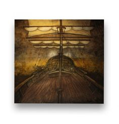 Pirate Ship Deck Backdrop - Available at priproductions.com