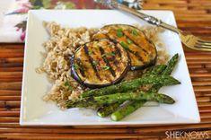 Miso-glazed grilled eggplant #MeatlessMonday