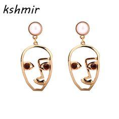 kshmir Pearl  earrings hollow out modelling retro earrings madcap stud earrings Ears to wear ear clip of woman EE885 #Affiliate